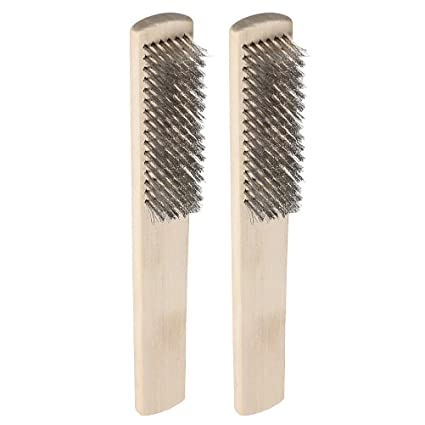 Ukcoco Wire Brush Set 2 Pack Stainless Steel Wire Brush With Wooden
