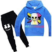 Chándal para niños con capucha y camiseta de manga larga para niñas, camiseta y pantalones de algodón, ropa deportiva de…