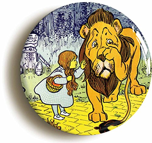Cowardly Lion Costumes Ideas (Cowardly Lion & Dorothy Wizard of Oz Button Pin (Size is 1inch diameter))