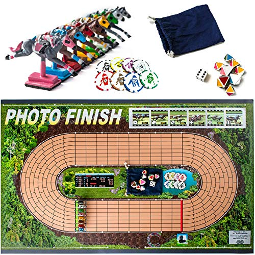 Horse Racing Photo (Photo Finish Horse Track Racing Board Game | New Fun Parlor Party Game | Original, Hand Made)