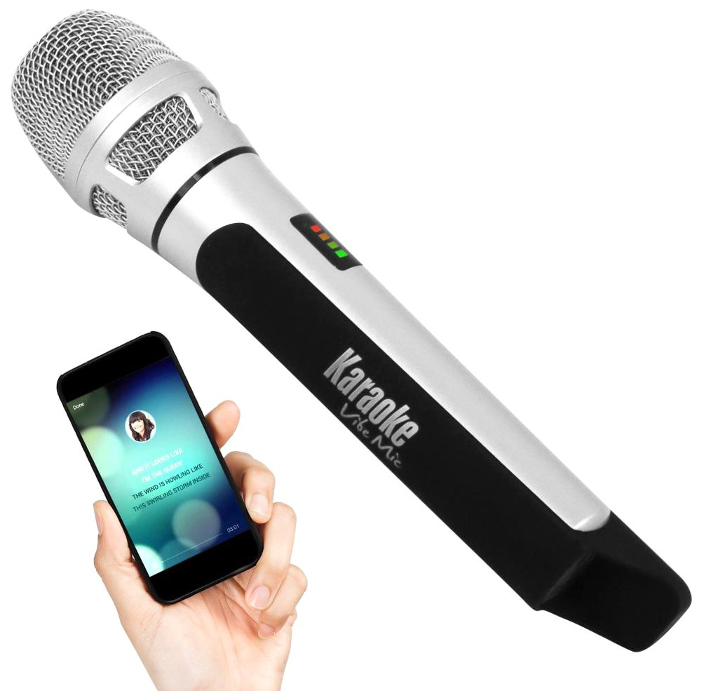 Pyle Wireless Bluetooth Streaming Karaoke Microphone for Music Playing and Singing, FM Radio Station Broadcasting with Multiple Adjustable Settings (PKRK9CR)