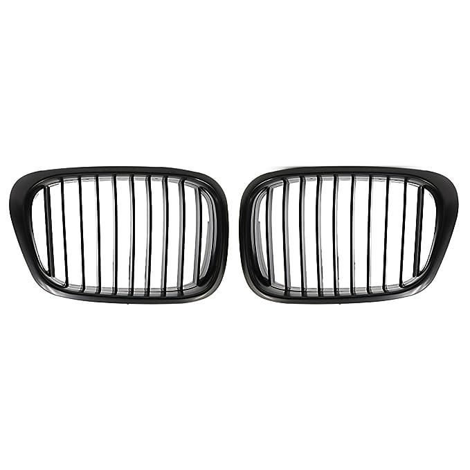 uxcell Matte Black Front Kidney Grille Grill For 97-03 BMW E39 5 Series 525i 528i 530i 540i M5 4-Door