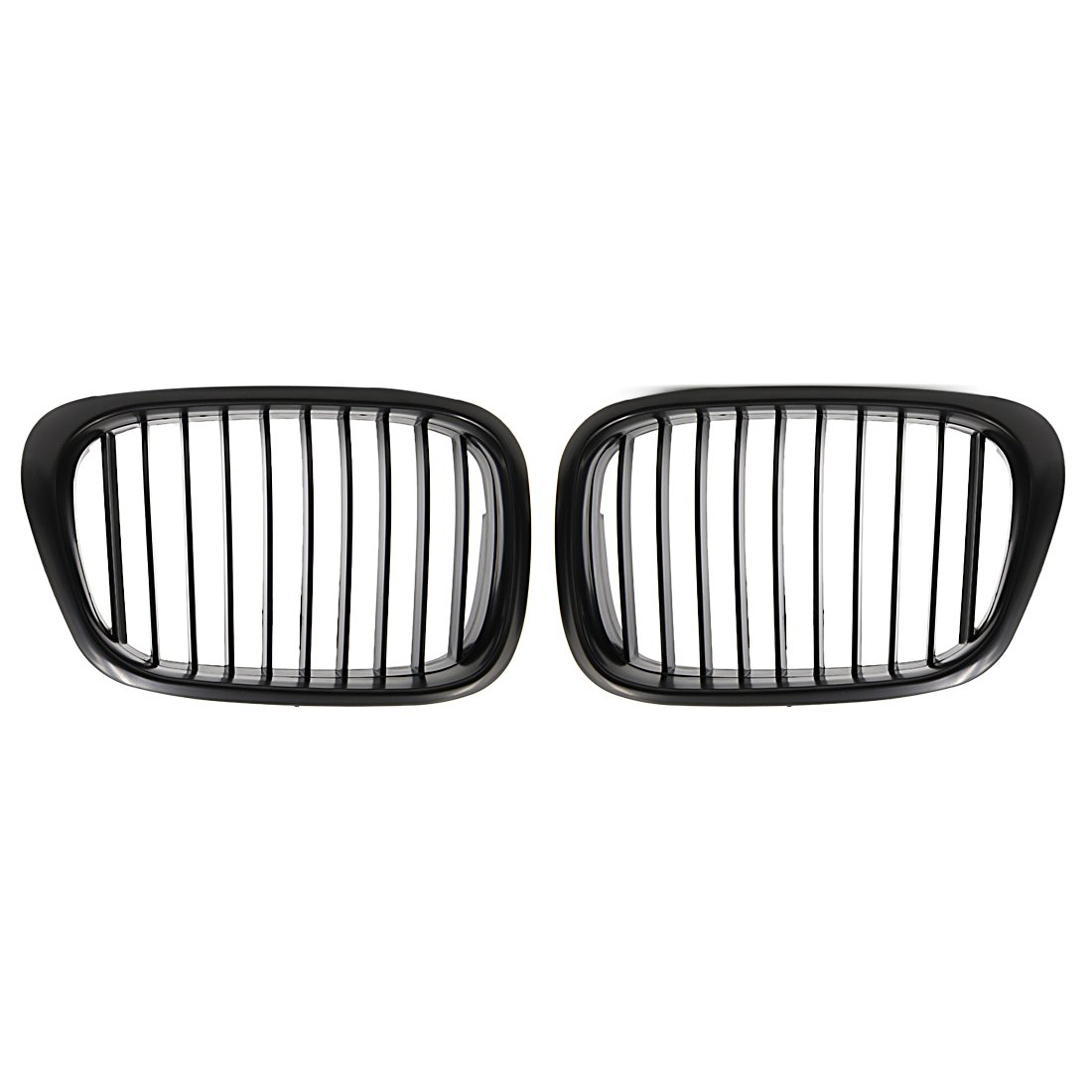 uxcell Car Matte Black Front Kidney Grille Grill For 97-03 BMW E39 5 Series 525i 528i 530i 540i M5 4-Door a17060300ux0471