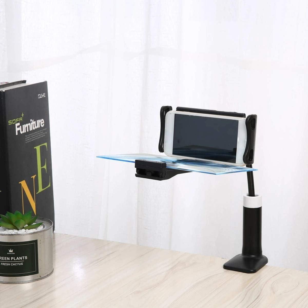 Lupa de Pantalla del Teléfono 3D de Alta definición de Pantalla del Amplificador del Soporte del 12 Lupa Plegable Pantalla del teléfono móvil Soporte de Escritorio Portátil Casa Cine: Amazon.es: Hogar