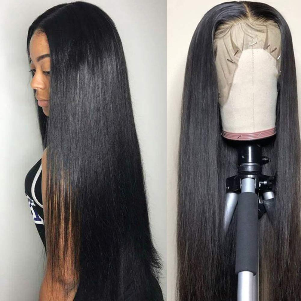 Subella Hair 9A Lace Front Wigs Human Hair with Baby Hair 150% Density Brazilian Straight Human Hair Wigs