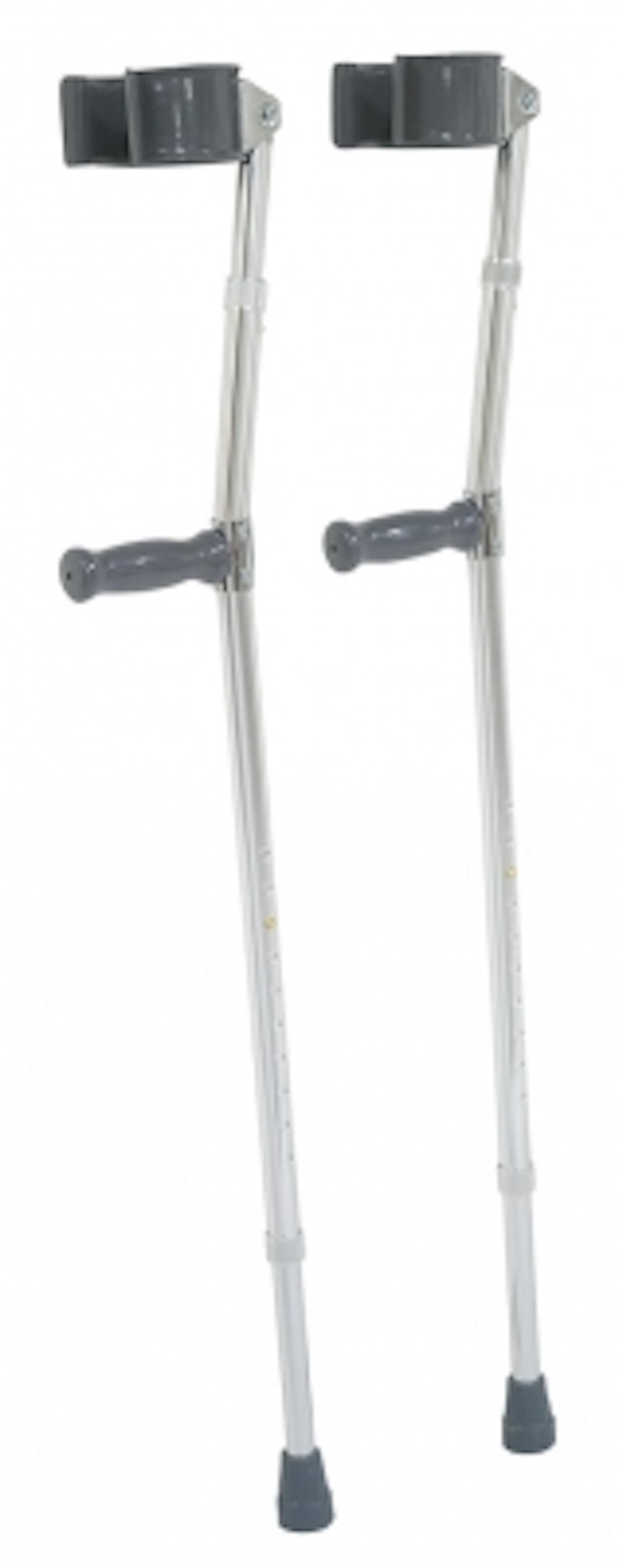 Pivit Deluxe Aluminum Forearm Crutches, 5'5''-6'4'' (Pack of 2) | Lightweight High Strength Aluminum Tubing | Design Reduces Stress Fatigue Soreness & Carpal Tunnel | Easy Push-Button Height Adjustment
