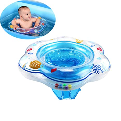 Baby Swimming Float,Baby Inflatable Swimming Ring with Seat for Kids Toddlers