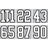 SEI 8-Inch Iron-On Team Pack Numbers, White