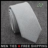 Men 5cm Wide Narrow Skinny Ties Thick Woolen Vintage Ties Formal Necktie Match All Business Casual