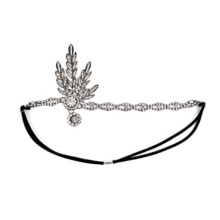 frcolor great gatsby women s headpiece vintage headband flapper 1920s American Party Food frcolor great gatsby women s headpiece vintage headband flapper silver amazon co uk beauty