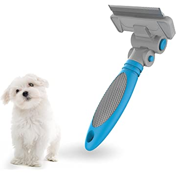 ColPet Dog Dematting Comb Grooming Tool - Dog & Cat Brush for Shedding,Effective Knots Removing