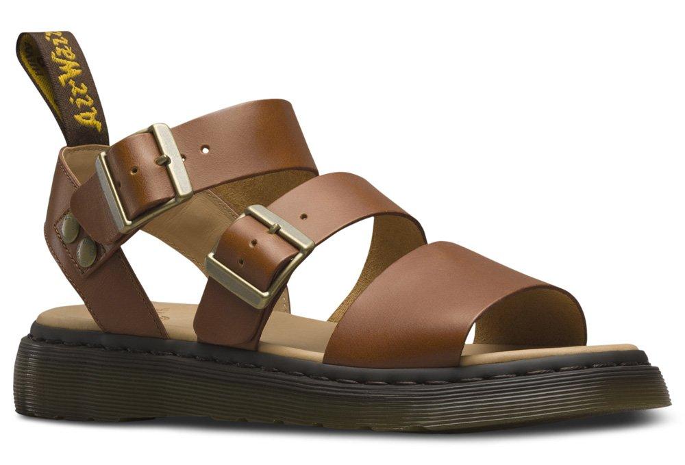 Dr. Martens - Unisex-Adult Gryphon Strap Sandal, Size: 11 D(M) US, Color: Oak