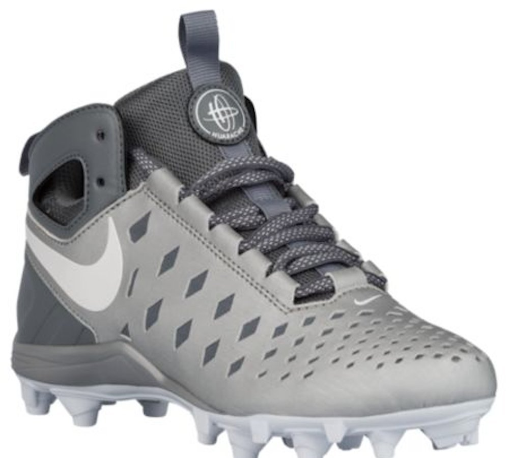 ... Lacrosse Cleats; Amazon.com Nike Huarache V Lax BG Lacrosse (Little  KidBig Kid) Metallic SilverWhite