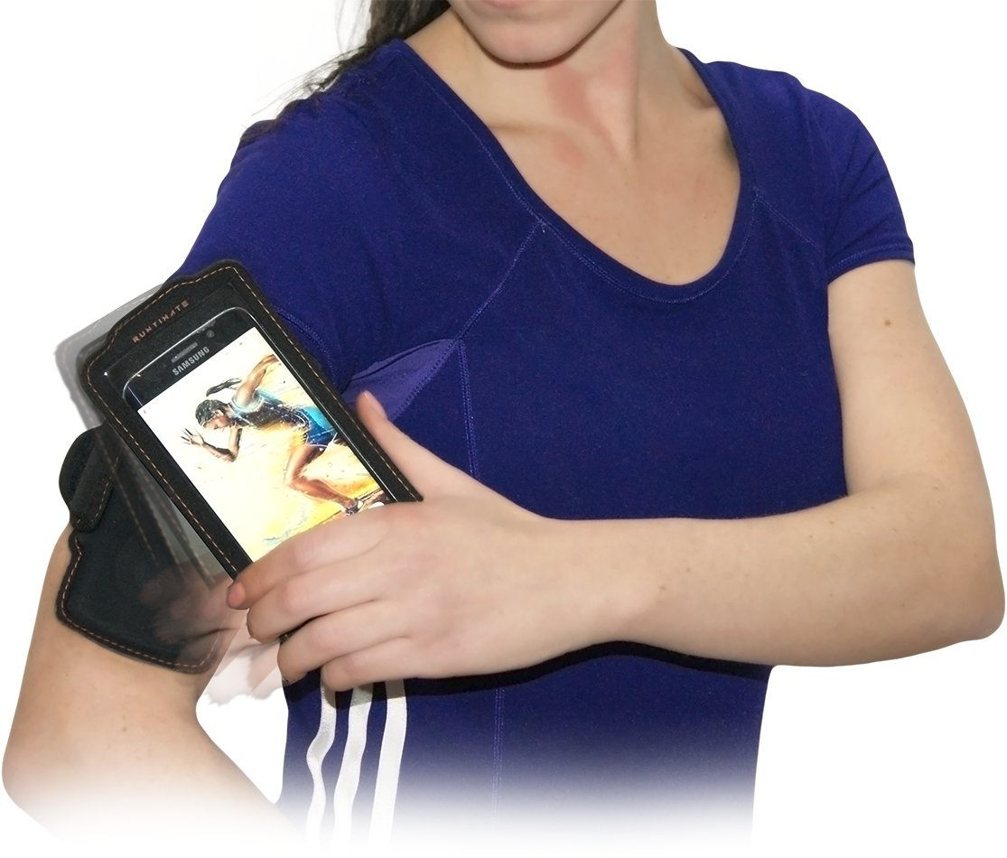 'runtimate Brassard magnétique porte smartphone jusqu'à 5–Noir/Orange 440016
