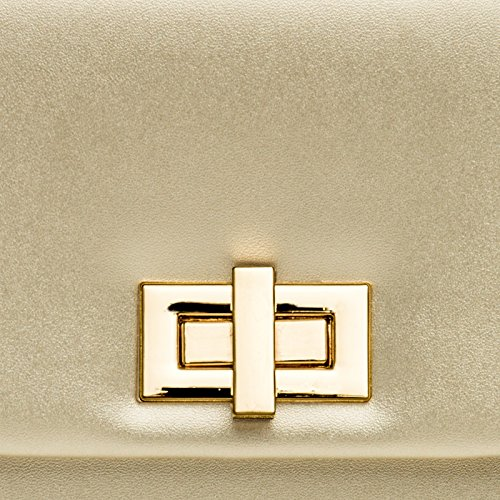 CASPAR Fashion - Cartera de mano para mujer dorado