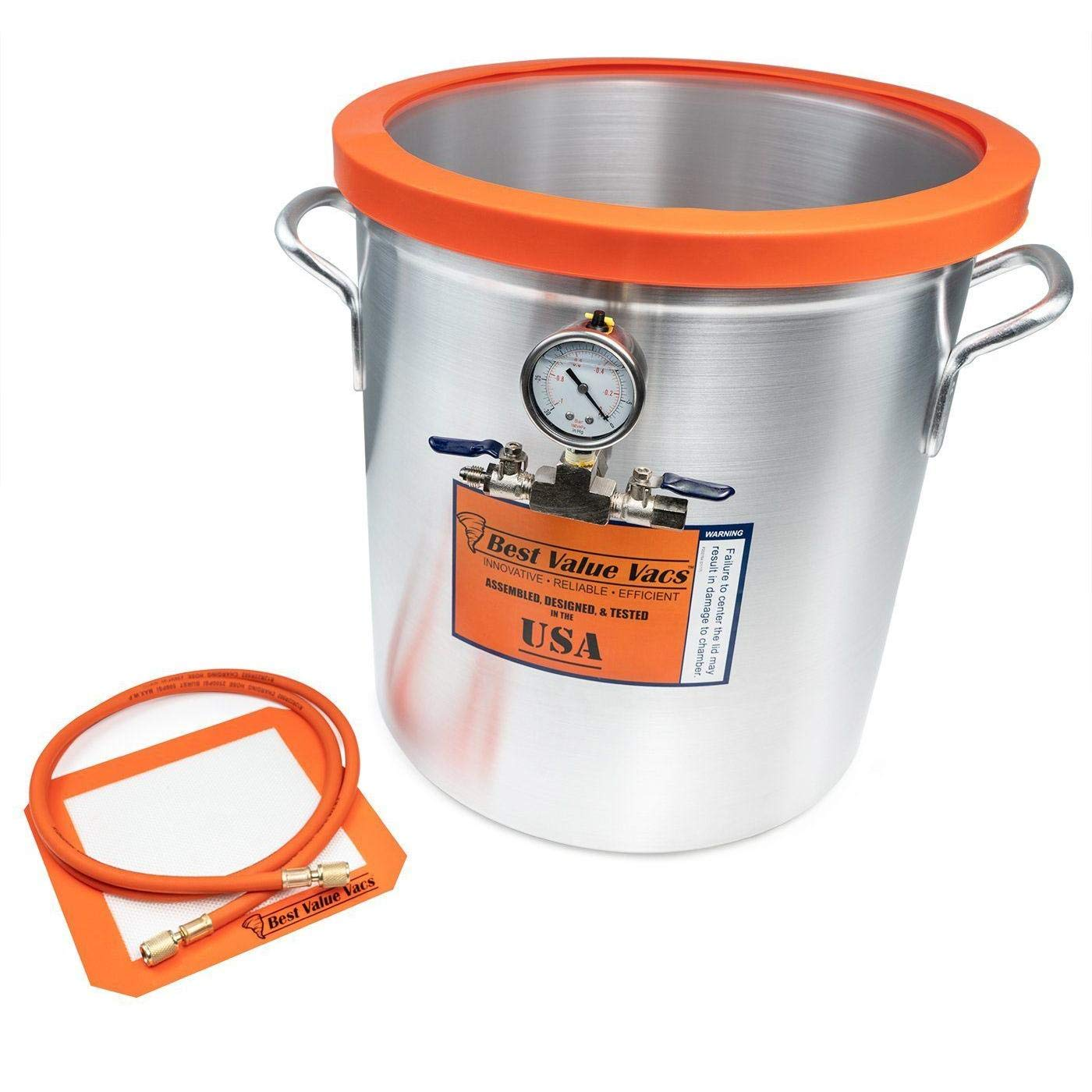 Best Value Vacs 10 Gallon Aluminum Side Mount Vacuum Chamber