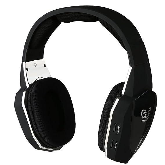Sunrain hw-398 óptico de 2,4 G inalámbrico estéreo profesional auriculares para juegos para Xbox Uno Xbox 360 PS4 PS3: Amazon.es: Videojuegos