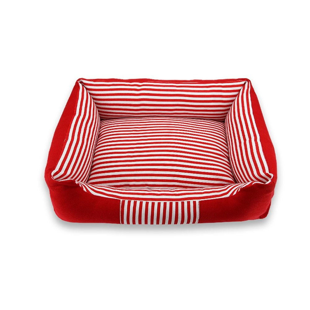 Red White Small Red White Small WX-WX Pet Supplies Pet Kennel Four Seasons Medium And Large Kennels Doghouse Removable And Washable Cat Shelter Indoor And Outdoor Animal Pet Housing Multifunction (color   Red white, Size   S)