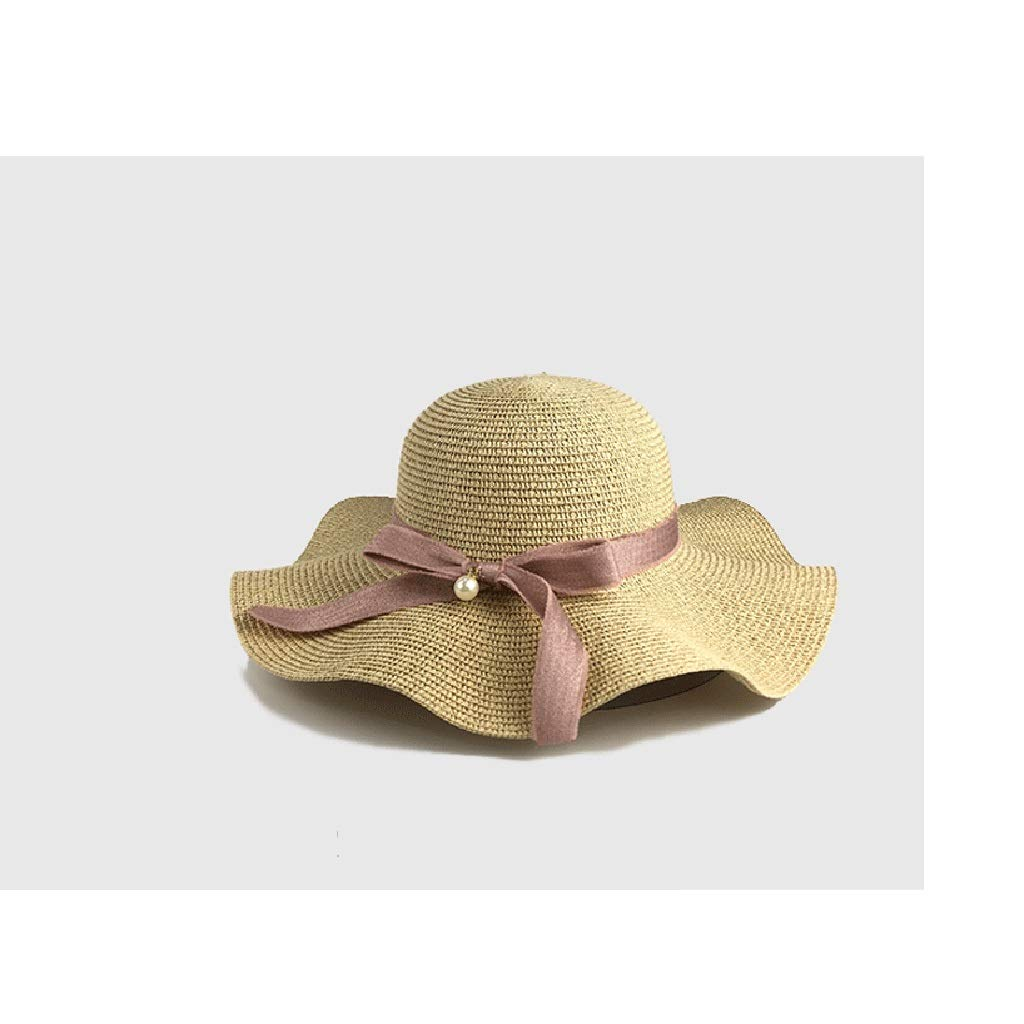 SGLI Sombrero de Verano Corbata Grande con Borde Crudo Sombrero de ...