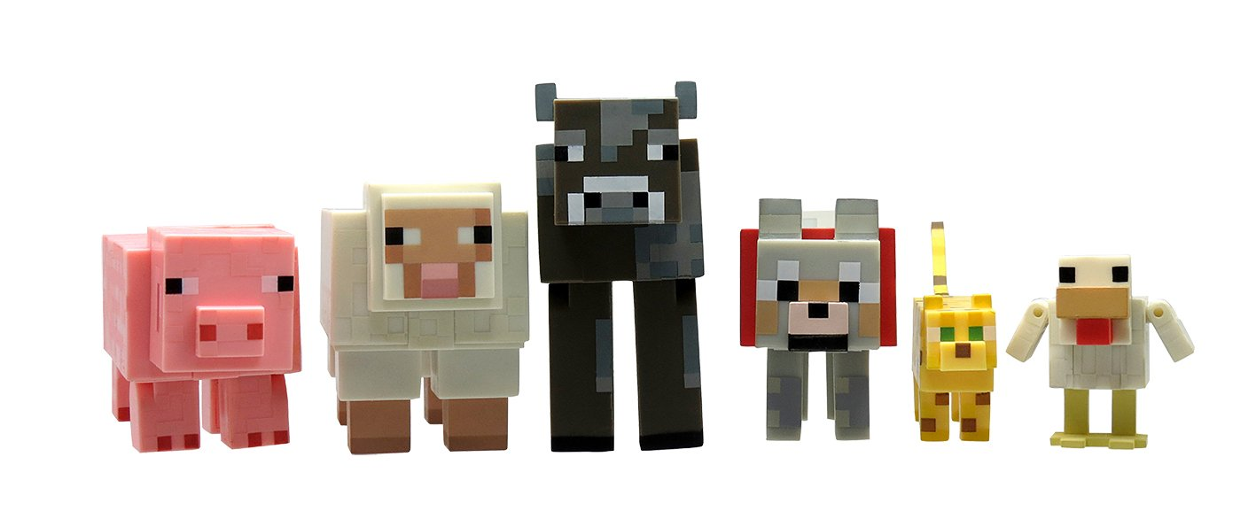 Amazon.com: Minecraft Animal Toy (6-Pack): Toys  for Minecraft Characters Pictures  103wja