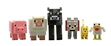 Jazwares Minecraft Multipack Spielfiguren Tiere Amazonde - Minecraft mit tieren spielen