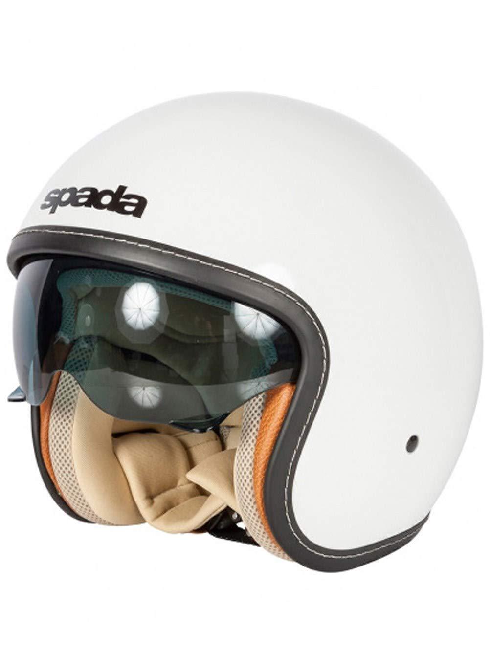 MOTORBIKE OPEN FACE HELMETS SPADA RP388 ADULT MOTORCYCLE SCOOTER JET TOURING HELMET BLACK 1739925