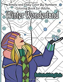 Amazon.com: Winter Wonderland Color By Numbers Coloring Book For ...