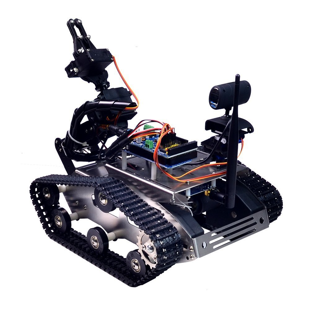 XiaoR Geek FPV Robot Car Kit with Robotic arm Hd Camera for Arduino,Utility Intelligent Tank chassis Robotics Vehicle,Smart Learning & Educational TH Robot Toys by iOS Android PC Controlled by XiaoR Geek (Image #2)