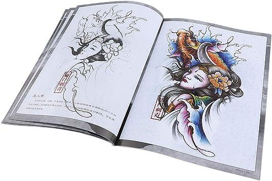 64 Páginas Libro Cuerpo de Estilo Chino Libros Tatuajes Arte ...