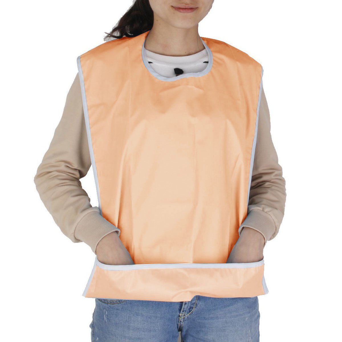 NUOLUX Bib for Elderly Waterproof Mealtime Bib Protector Aid Apron