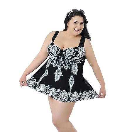 Applyvt - Bañador para Mujer (Talla Grande), diseño de Falda ...