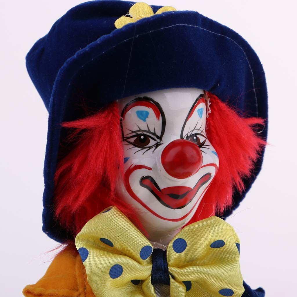 Pagliaccio Truccabimbi.Buy 7 Inch Porcelain Smiling Clown Doll Wearing Colorful Outfits