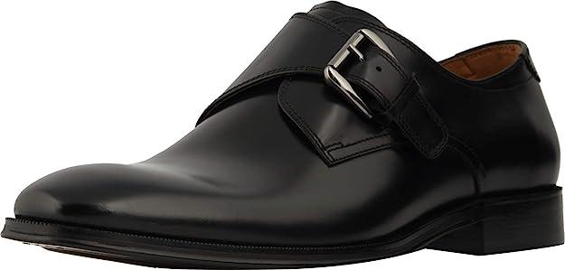 Florsheim Belfast Plain Toe Monk Strap Shoes Black 14229-001