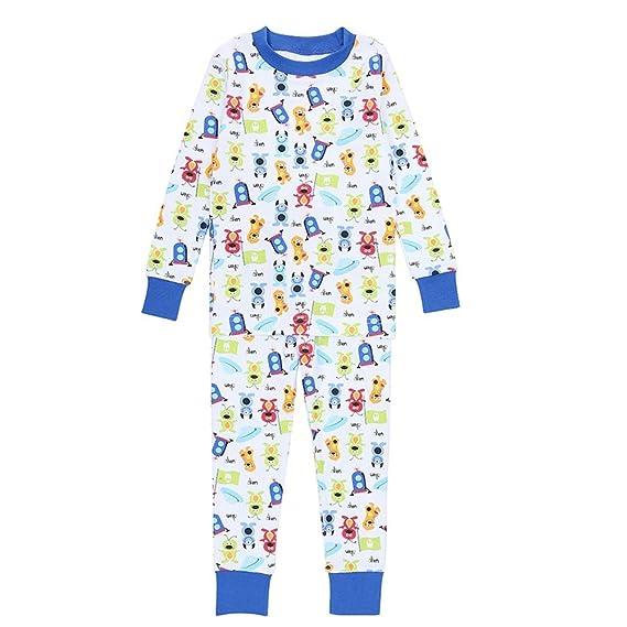 1c09c2b24fee Amazon.com  PLove Kids Two Piece Organic Cotton Pajamas for Boys ...
