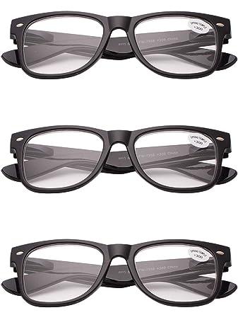 f2f0fcce704 VEVESMUNDO Reading Glasses Men Women Oversized Large Spring Hinged Eyeglasses  Spectacles Bright Matte Black Leopard 3 Pack Sets 1.0 1.5 2.0 2.5 3.0 3.5  4.0  ...