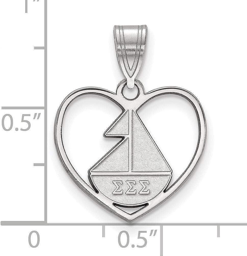 Lex /& Lu LogoArt Sterling Silver Phi Sigma Sigma XS Post Earrings LAL163626