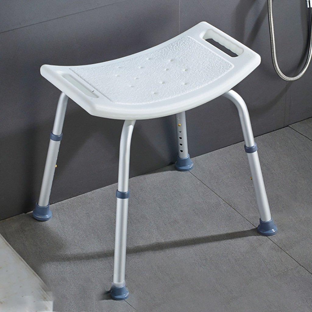 家庭用バスルームスツールシャワースツール、障害者高齢者妊婦バスチェア、荷物140kg (色 : A) B07HVRQJ1M  A