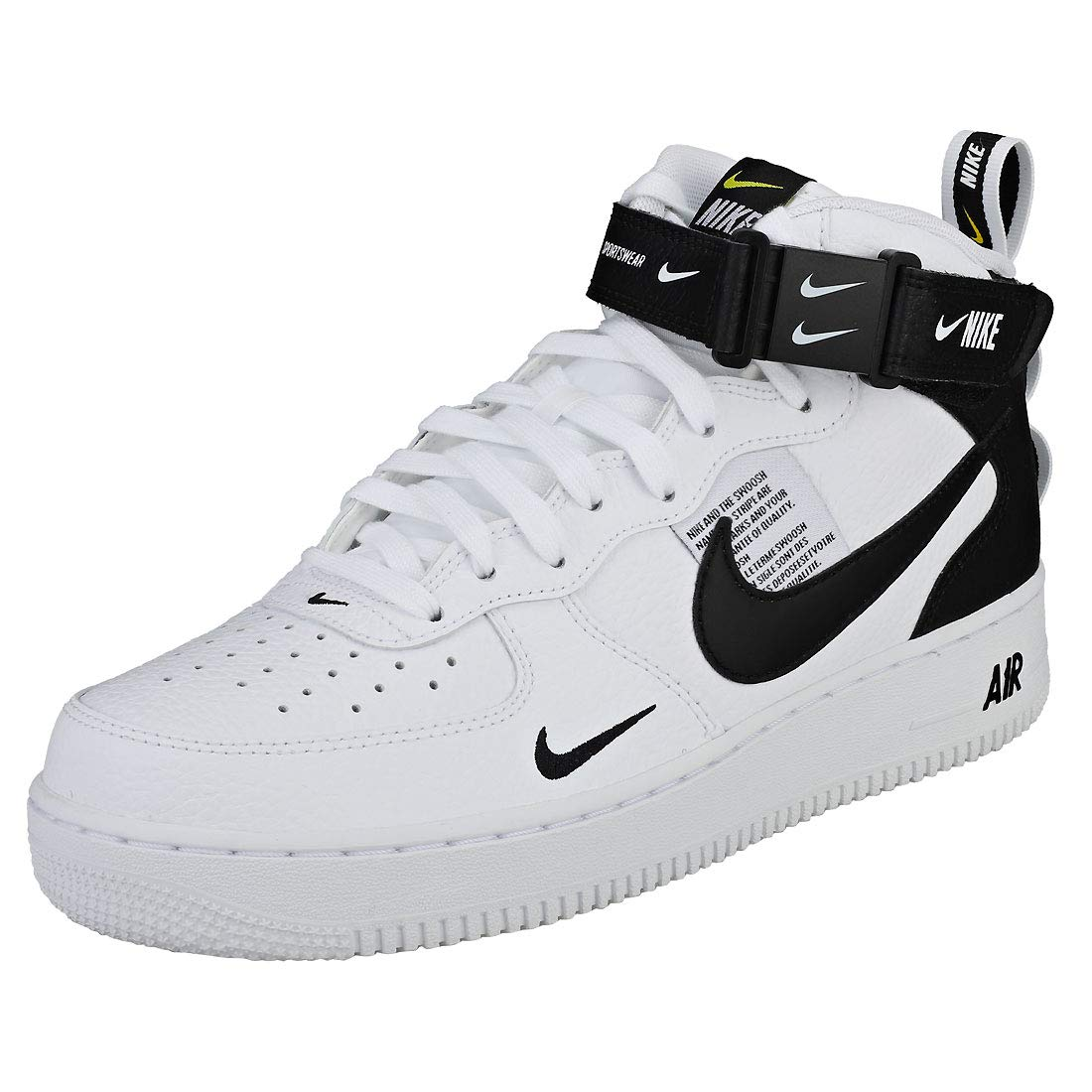 a6ad79a8c13 NIKE Air Force 1 Mid 07 Lv8 Mens Trainers White Black - 11 UK   Amazon.co.uk  Shoes   Bags