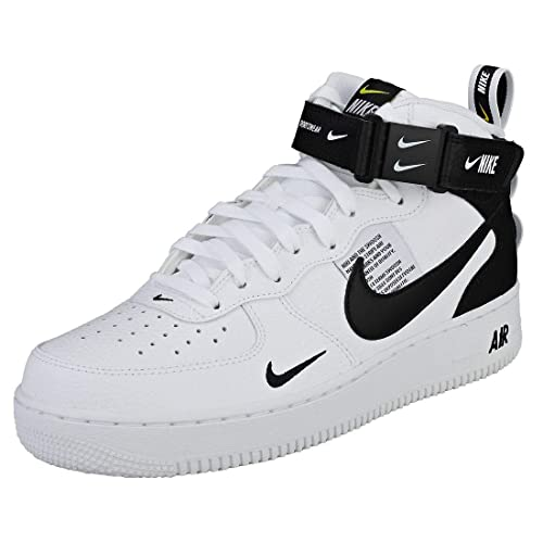 b7862defd7ac11 NIKE Air Force 1 Mid 07 Lv8 Mens Trainers White Black - 11 UK   Amazon.co.uk  Shoes   Bags