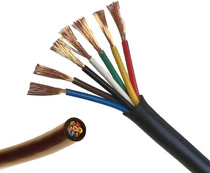 potencia nominal de 11/amperios Cable para luces LED para caravana 10/m de longitud 7/n/úcleos
