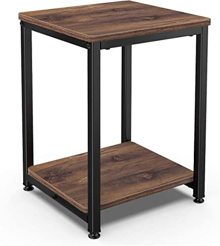 Homemaxs Nightstands Rustic End Table