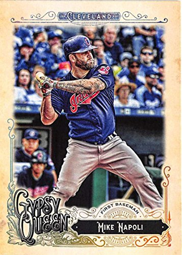 2017 Topps Gypsy Queen  129 Mike Napoli Cleveland Indians Baseball Card