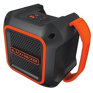 Black & Decker BDBTS20B 20V MAX Wireless Bluetooth Speaker with Adapter