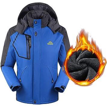 LYMYY Invierno Impermeable Frío Tiempo Caliente Abrigo Hombres Más Chaqueta De Terciopelo A Prueba De Viento