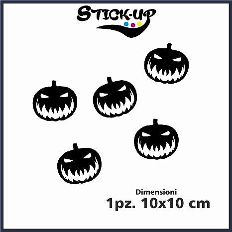678c55990231 Vetrofanie Halloween Adesivi Halloween - 5 Adesivi Zucche Halloween -  Misure Singolo Pezzo 10x10 cm -