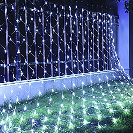 Amazon 5x5ft 120 led net lights indoor string lights party 5x5ft 120 led net lights indoor string lights party christmas xmas wedding home garden decorations 8 aloadofball Images