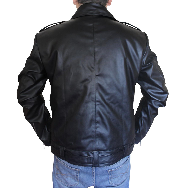 Mens leather gloves adelaide - The Walking Dead Jeffrey Dean Morgan Negan Jacket At Amazon Men S Clothing Store