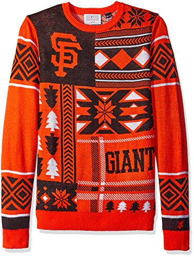 San Francisco Giants Patches Ugly Crew Neck Sweater Medium