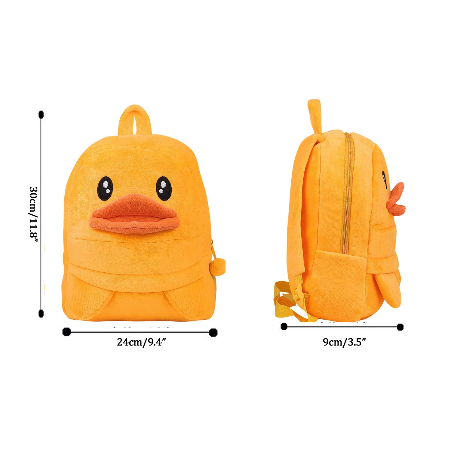 0412f2f33f Toddler Baby Yellow Duck Backpack Kids Cute Animal Cartoon Kindergarten  Schoolbag Mini Travel Bag Rucksack Strap Shoulder Bag for Boys Girls Ages 3  to 4  ...