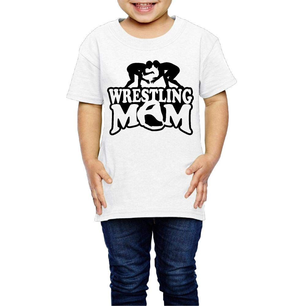 Kcloer24 Wrestling Mom Kids Baby Boy Personality T-Shirt Summer Clothes (2-6 Years Old)